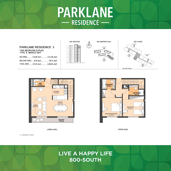 Parklane Residence 3 Two Bedroom Duplex Type E Middle Unit