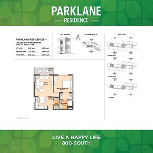 Parklane Residence 4 One Bedroom Apartment Type D Middle Unit