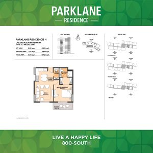Parklane Residence 4 One Bedroom Apartment Type E Middle Unit
