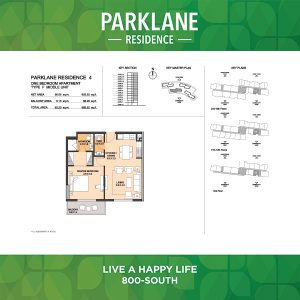 Parklane Residence 4 One Bedroom Apartment Type F Middle Unit