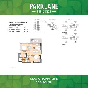 Parklane Residence 4 One Bedroom Apartment Type L Middle Unit