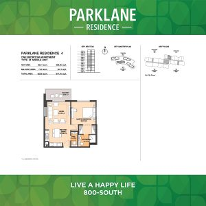 Parklane Residence 4 One Bedroom Apartment Type M Middle Unit