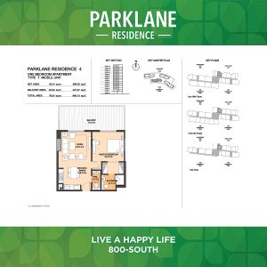 Parklane Residence 4 One Bedroom Apartment Type T Middle Unit