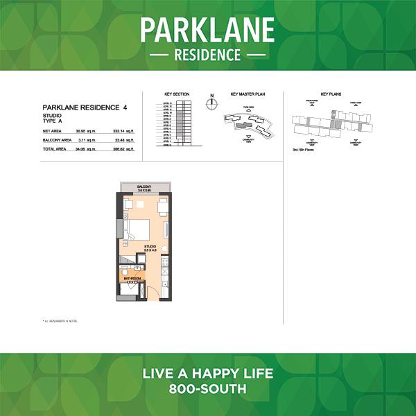 Parklane Residence 4 Studio Type A