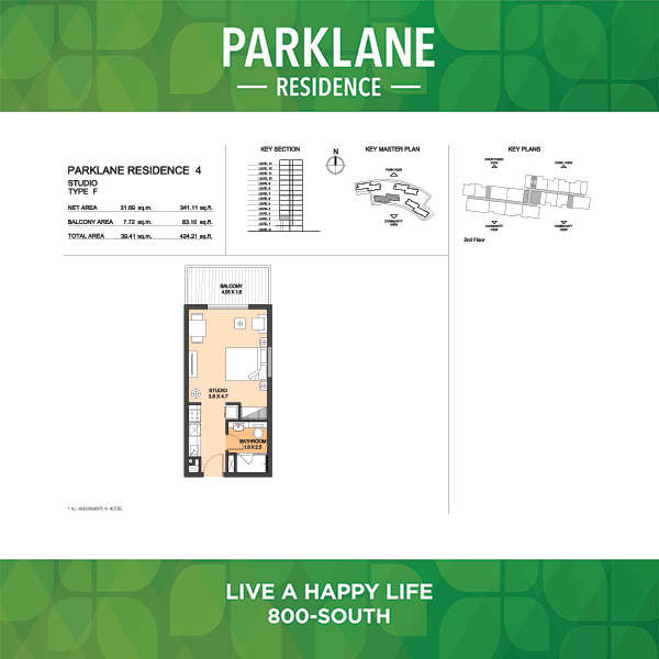 Parklane Residence 4 Studio Type F