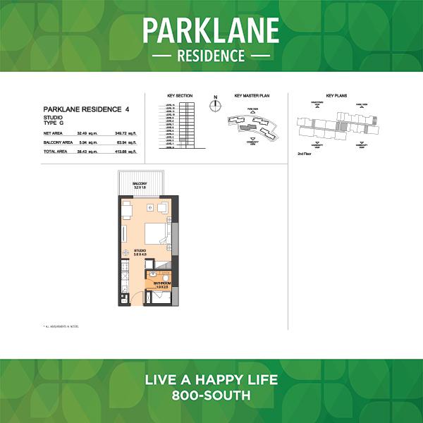 Parklane Residence 4 Studio Type G