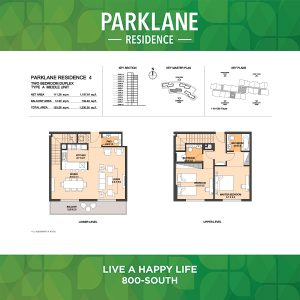 Parklane Residence 4 Two Bedroom Duplex Type A Middle Unit